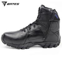 bates陸戰靴男冬防寒貝特斯拉鏈作訓鞋防水中幫戰術作訓靴E07006