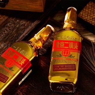 永丰 北京二锅头 小方瓶 金瓶 46%vol 清香型白酒 500ml*12瓶 整箱装