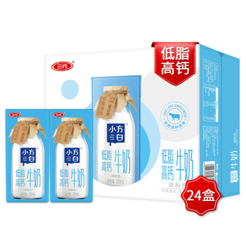 SANYUAN 三元 小方白低脂高钙牛奶 200ml*24盒  +凑单品