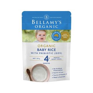BELLAMY'S 贝拉米 婴儿有机高铁米糊米粉