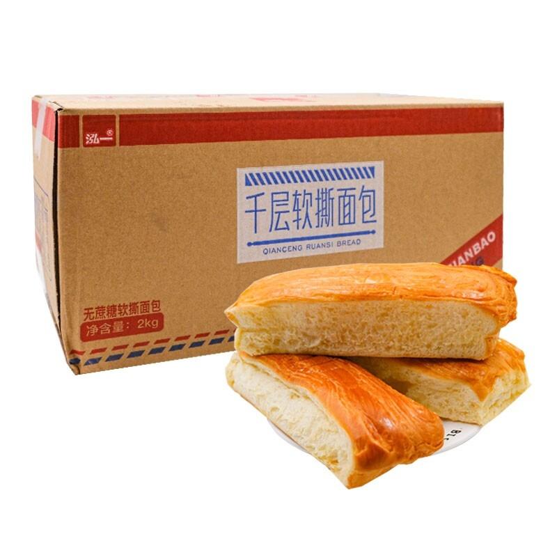 泓一 千层软手撕面包 散装6包(约1斤)