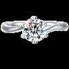 GAMY 嘉蜜 情定三生925银钻石戒指 1克拉