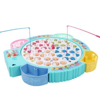 京东PLUS会员 : 知识花园 儿童钓鱼玩具池套装宝宝磁性电动小猫钓鱼竿早教启蒙游戏益智力动脑小孩玩具