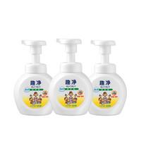 日本LION狮王趣净泡沫抑菌洗手液含植物250ml*3瓶装儿童泡沫型