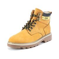 热风 | 时尚撞色休闲大黄靴女士高帮系带工装靴马丁靴