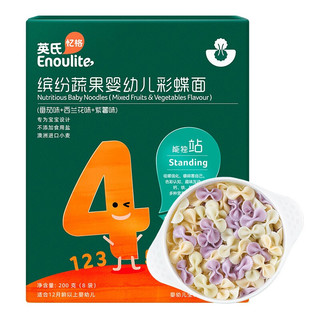 YEEHOO 英氏 蝴蝶面 缤纷蔬果味 200g