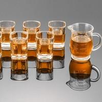 Zoikou 象扣 玻璃白酒杯 6个+分酒器