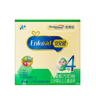 MeadJohnson Nutrition 美赞臣 安儿健系列 儿童奶粉 国产版 4段 1200g
