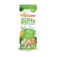 HappyBABY 禧贝 宝宝零食 添加胆碱 有机彩虹泡芙 苹果味 60g/罐 ✖️4件