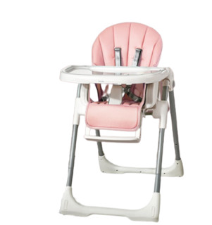kub 可优比 KUB) 诺拉餐椅宝宝餐椅子吃饭可折叠便携式婴儿餐桌椅座椅多功能儿童餐椅升级款桃花粉