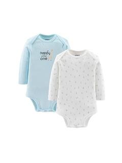 Carter's 孩特 婴儿长袖连体衣 2件装