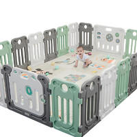 京東PLUS會員 : 丘巴 嬰兒圍欄防護欄 16小片+門欄+游戲欄 *2件