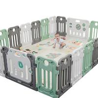 丘巴 婴儿围栏防护栏 16小片+门栏+游戏栏 *2件