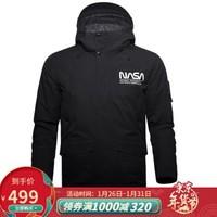 凯乐石(KAILAS)2020新款男NASA工装派克棉服时尚休闲保暖透气 黑色 M