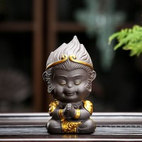 JIAXIN 甲馨 百战百胜-紫泥 陶瓷大圣茶宠摆件