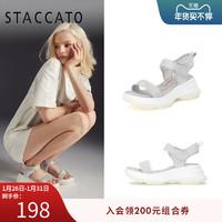 思加图夏季新款清爽亮片水钻运动风休闲凉鞋女L5901BL9