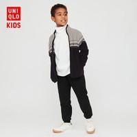 UNIQLO 优衣库 儿童印花摇粒绒拉链茄克外套
