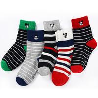 Disney 迪士尼 SM3637 儿童袜子 5双装 22-24cm