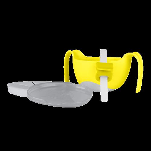 b.box 儿童三合一吸管碗 黄灰色