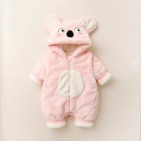 婴儿连体衣秋冬女新生儿外出抱衣保暖棉服男宝宝衣服加绒加厚冬装