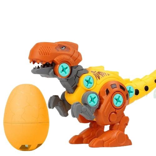 贝利雅 儿童拼装恐龙玩具 霸王龙+恐龙蛋 颜色随机