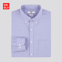 UNIQLO 优衣库 432150 男士精纺弹力修身格子衬衫