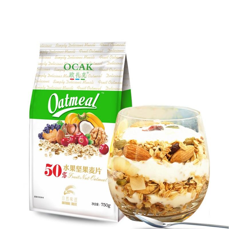 OCAK 欧扎克  水果坚果麦片(冲泡款) 750g