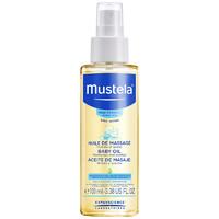 妙思乐Mustela法国进口润肤油滋润保湿婴儿抚触按摩油100ml去头垢