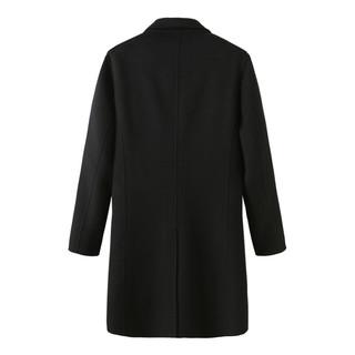 MARK FAIRWHALE 马克华菲 艺术系列 男士双面呢大衣 7193516032903 纯黑色 L