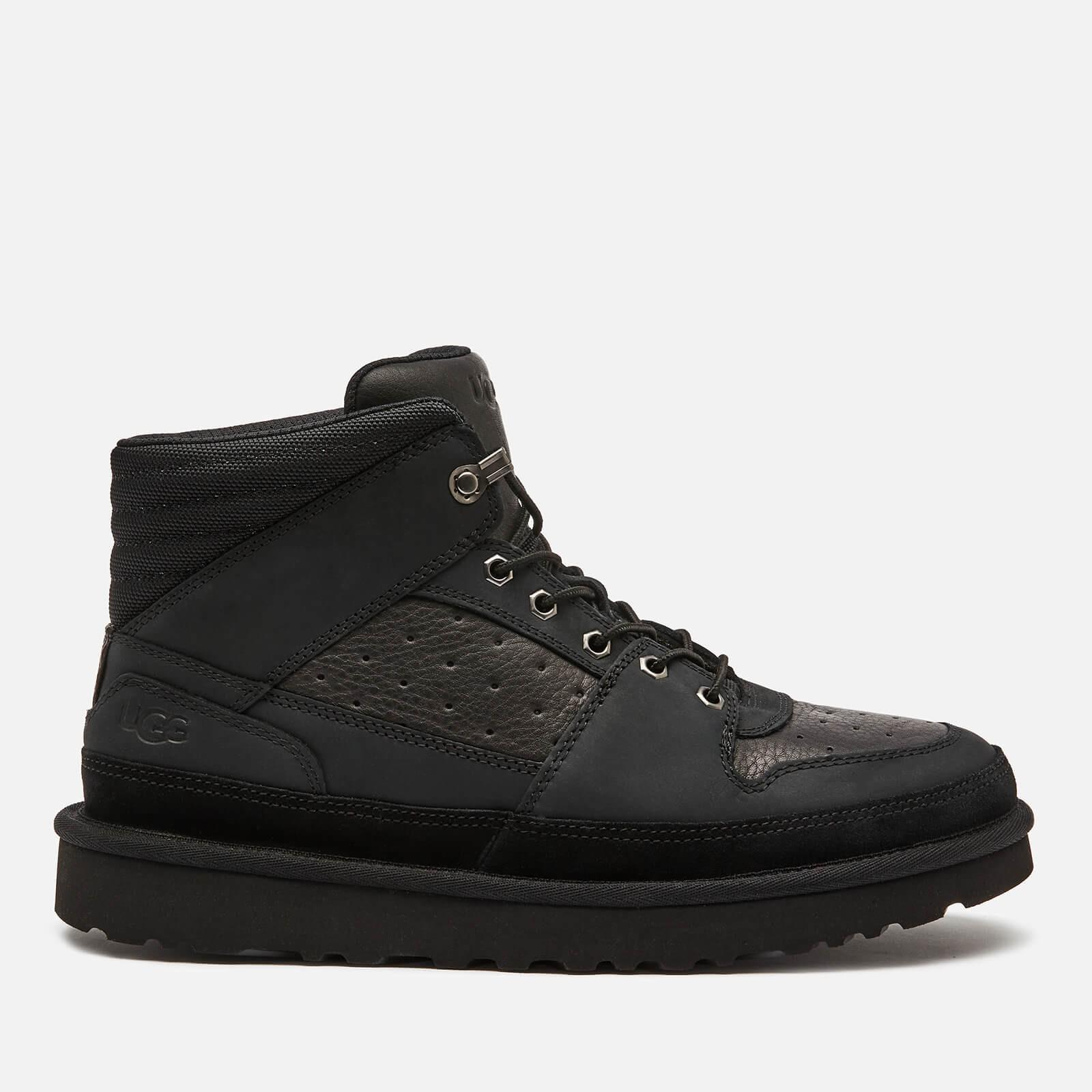 UGG 男子皮革运动鞋 黑色 41