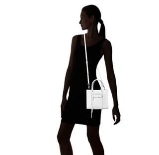 Rebecca Minkoff 瑞贝卡·明可弗 MAB系列 女士皮质斜挎包 白色 迷你