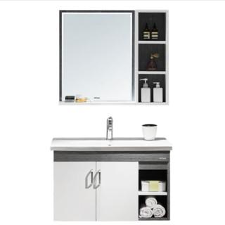 annwa 安华 N3D85G15-C 卫浴实木浴室柜组合 镜柜款