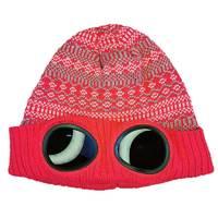 快乐狐狸冬滑雪帽男防雾镜片眼镜帽户外保暖毛线时尚休闲针织帽女
