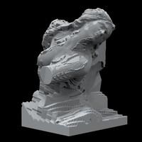 HOWstore 昊美术馆夸尤拉非对称考古学凝视机器收藏级雕塑装置