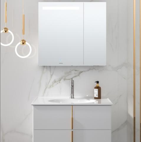 JOMOO 九牧  德尔菲系列 A2257-011A-2 浴室柜组合 智能款 白色 80cm