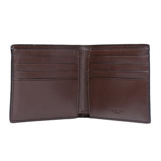 COACH 蔻驰 男士PVC短款钱包 F75083 MA/BR 棕色