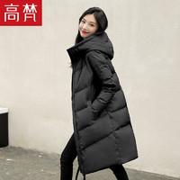 高梵羽绒服女中长款过膝超长2020新款网红白鸭绒时尚韩版冬季外套