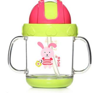 HITO 喜多 CDH31290G 儿童学饮杯 小兔款 180ml 绿色
