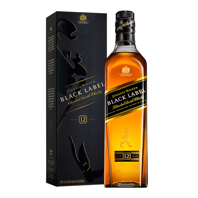 JOHNNIE WALKER 尊尼获加 黑牌 12年 调配型苏格兰威士忌 40%vol
