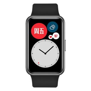 HUAWEI 华为 WATCH FIT 智能手表 41mm 石墨黑 橡胶 4GB(ECG、GPS、扬声器、温度计)