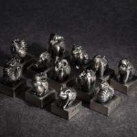 【西泠印社】十二生肖銀印章 創意999純銀 實心做舊工藝 收藏紀念