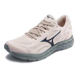 Mizuno美津浓运动鞋男跑步鞋透气轻便耐磨RC-01 J1CR190025 米白色/绿色 42 *3件