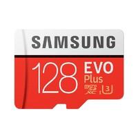 三星(SAMSUNG) microSDXC UHS-1存储卡128G升级版+SD卡适配器 读取100m/s写入90m/s