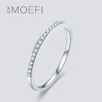 茉妃 女士925纯银细戒指