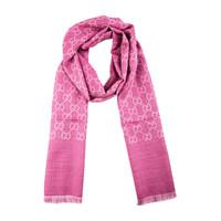GUCCI/古驰 女士时尚优雅羊毛加丝绸保暖围巾披肩