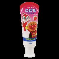 LION 狮王 狮王(Lion)面包超人防蛀健齿儿童牙膏 草莓味(可吞咽)40g(日本原装进口)