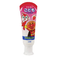 LION  儿童牙膏 面包超人 草莓味 40g