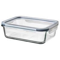 IKEA365+附盖食品盒-长方形玻璃/塑料1.0公升