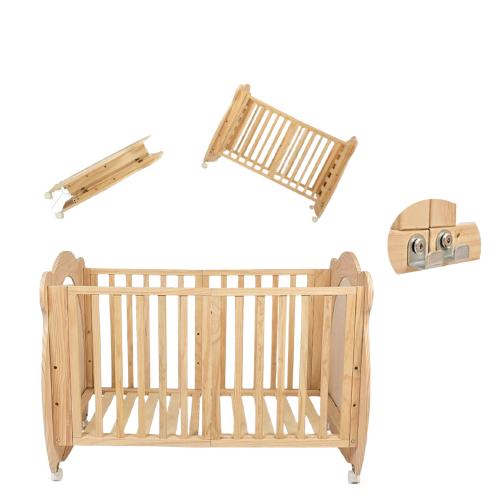 elittile 多功能折叠实木松木儿童床