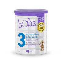 bubs 贝儿 幼儿配方羊奶粉  3段 800g罐